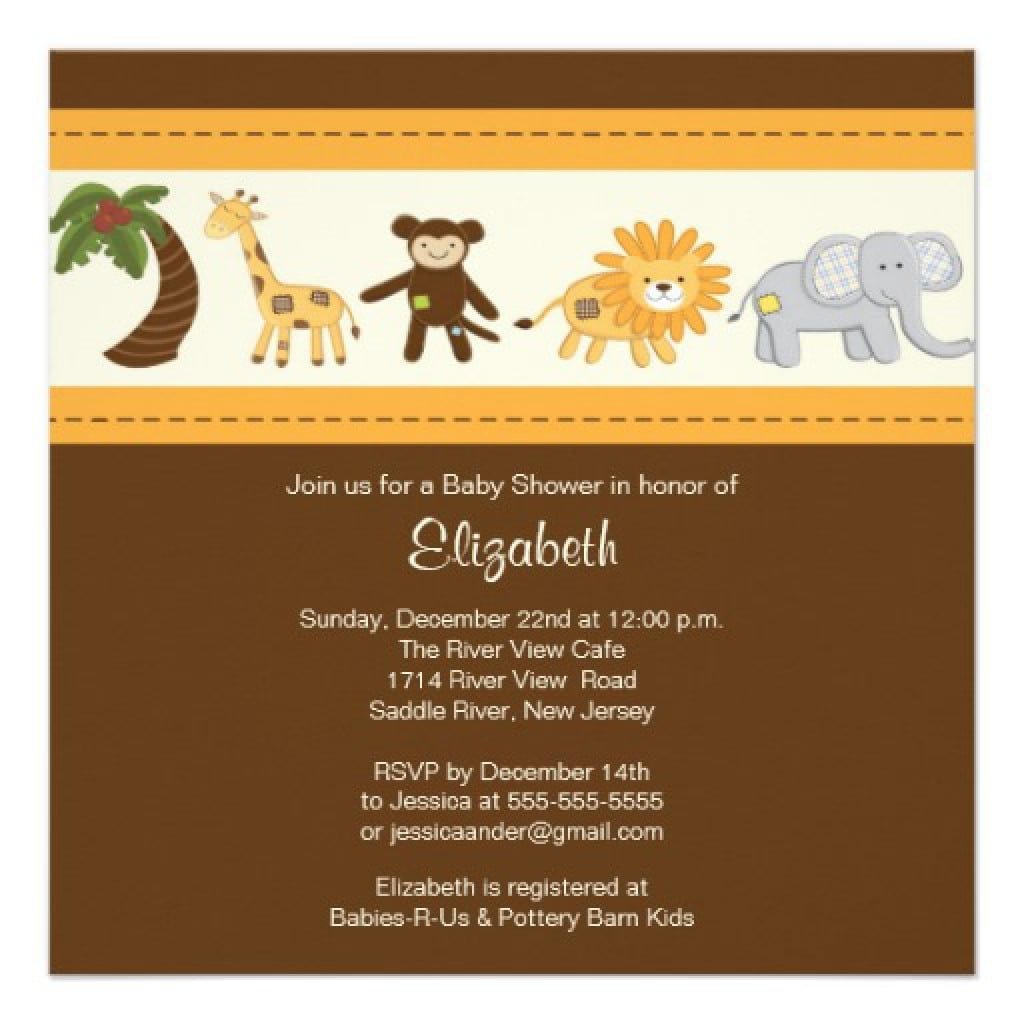 Free Baby Safari Invitation Backgrounds 5