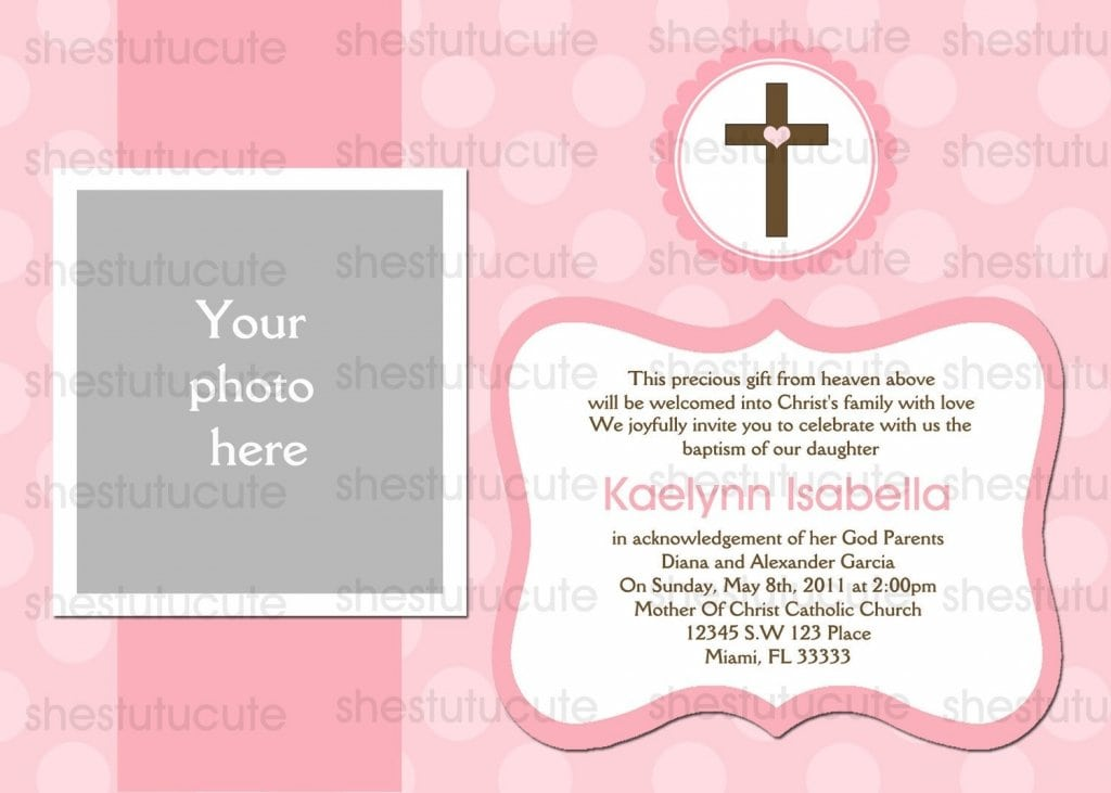 Free Baptism Invitations To Print