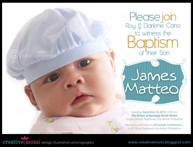 Free Baptismal Invitation Sample 3