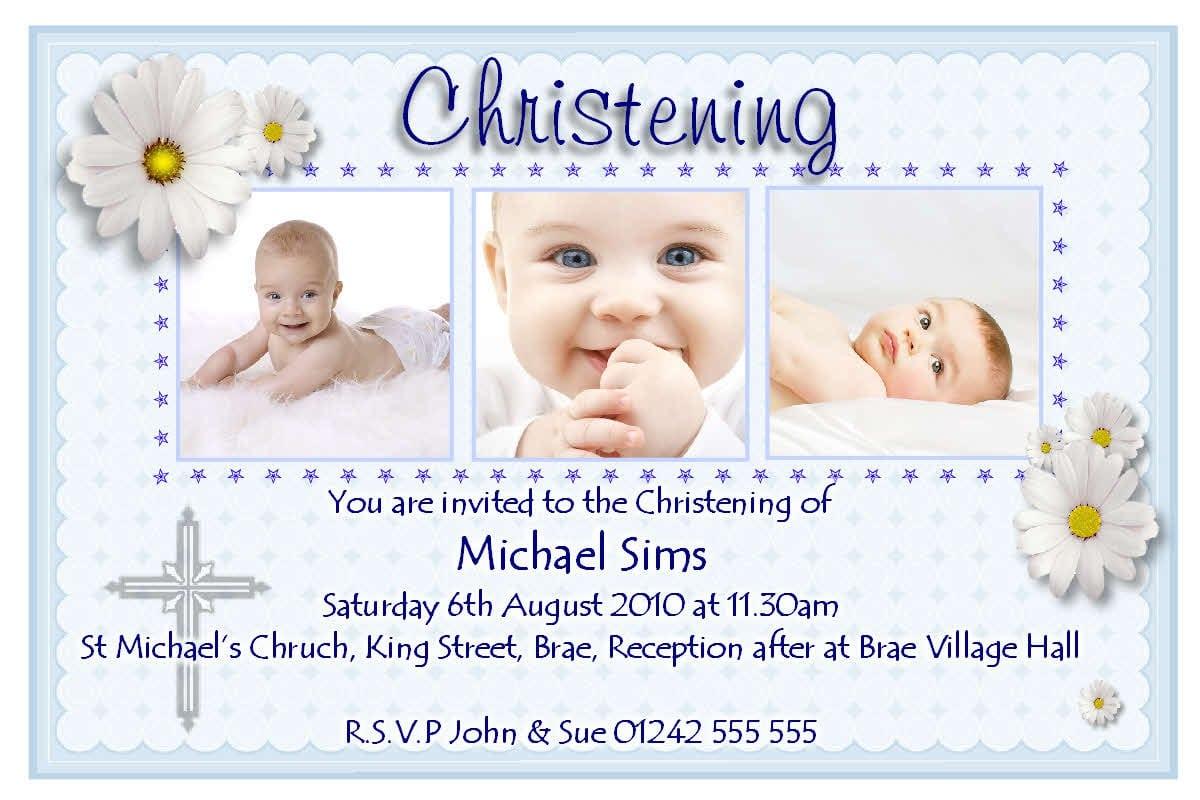 Free Baptismal Invitation Sample 4