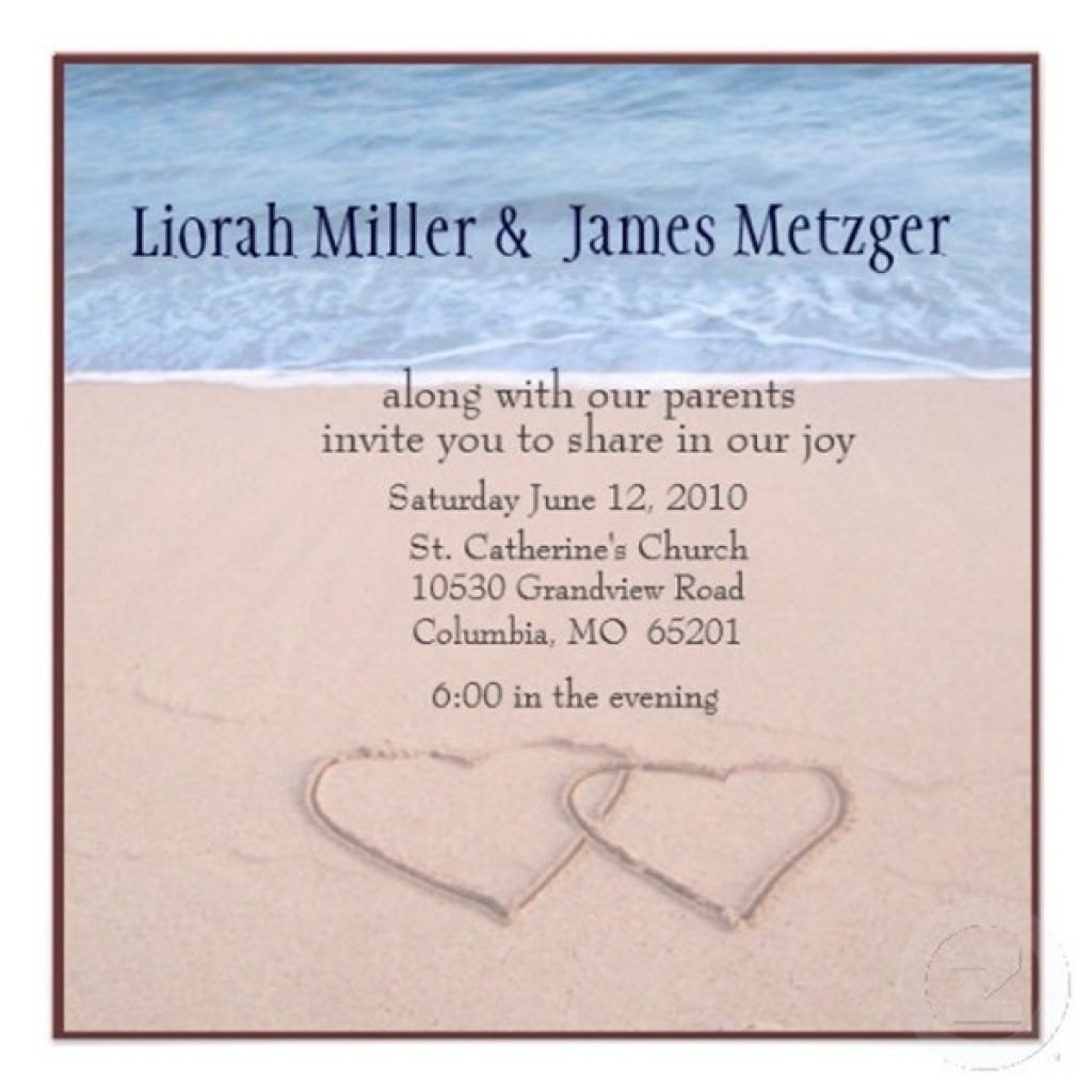 Pics Photos   Beach Wedding Invitations Templates Free J4ufBmcH