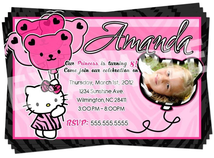 Free Birthday Invitation Templates Hello Kitty 2