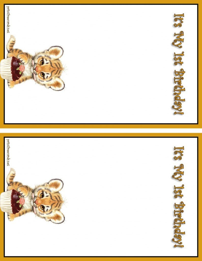 Free Birthday Invitation Templates Leopard Print 5