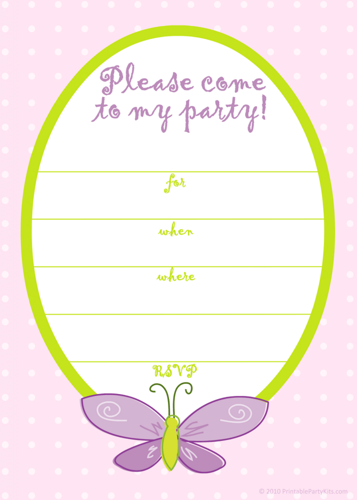 Free Birthday Invitations Templates For Girls
