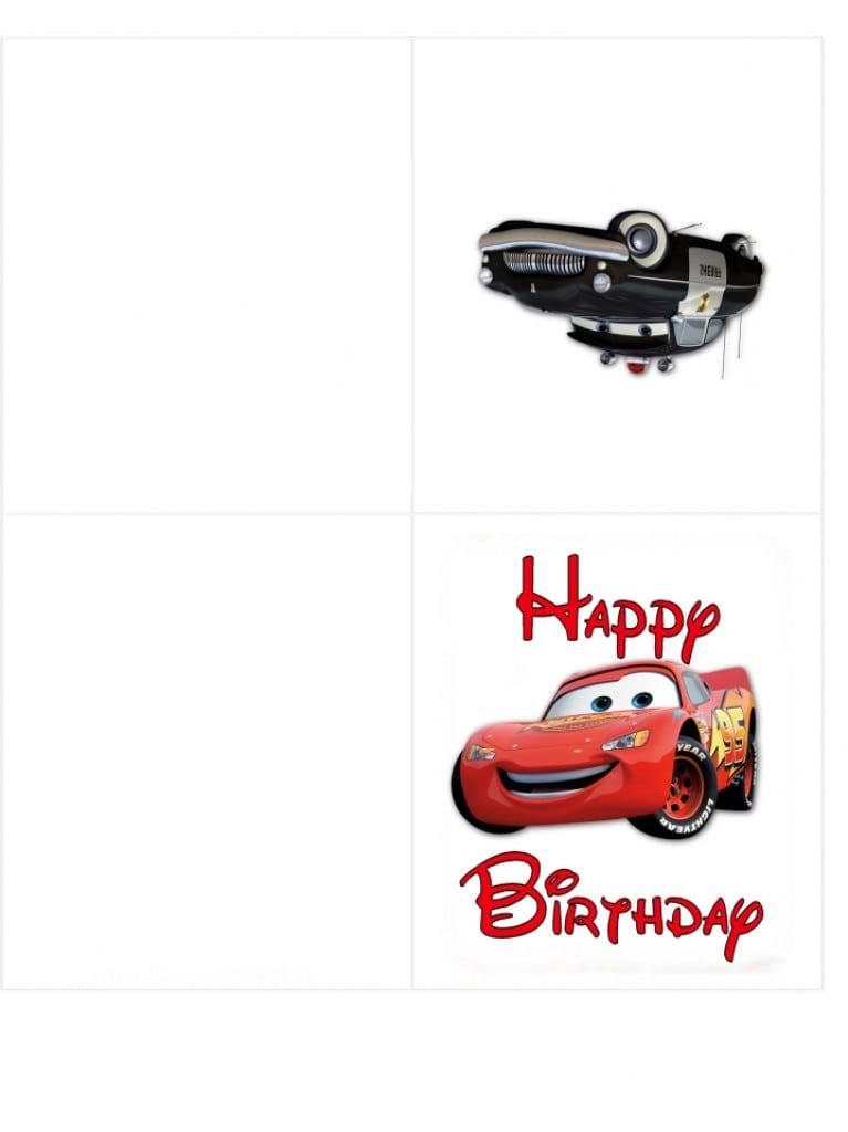 Free Cars Birthday Invitation Template 2