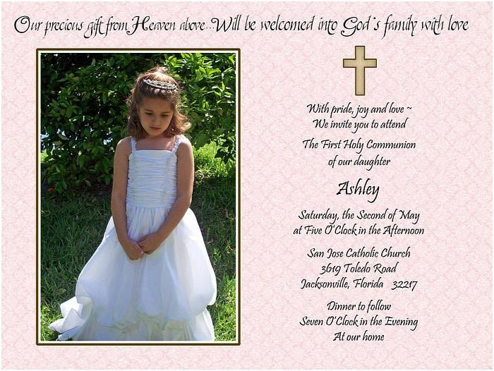 Free Christening Invitation Template 4
