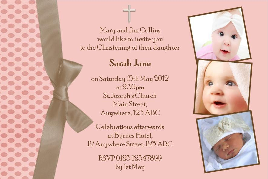 Free Christening Invitation Template 5