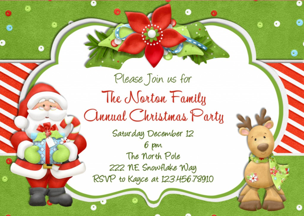 Free Christmas Party Invitation Template U2013 Gangcraft, Invitation Templates  Christmas Dinner Invitations Templates Free