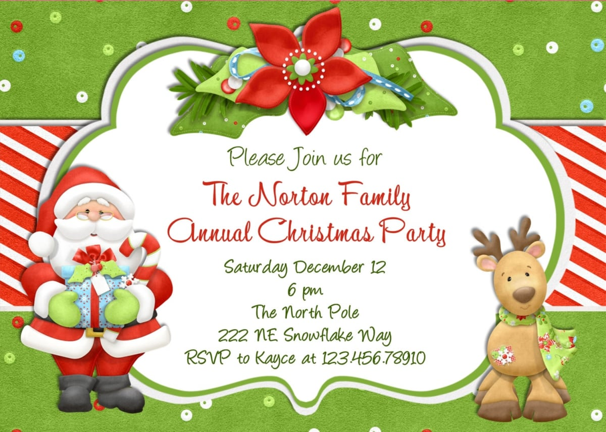Free Christmas Invitaion Template