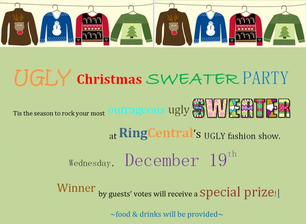 Ugly Christmas Sweater Party Invitations Free with nice invitation template
