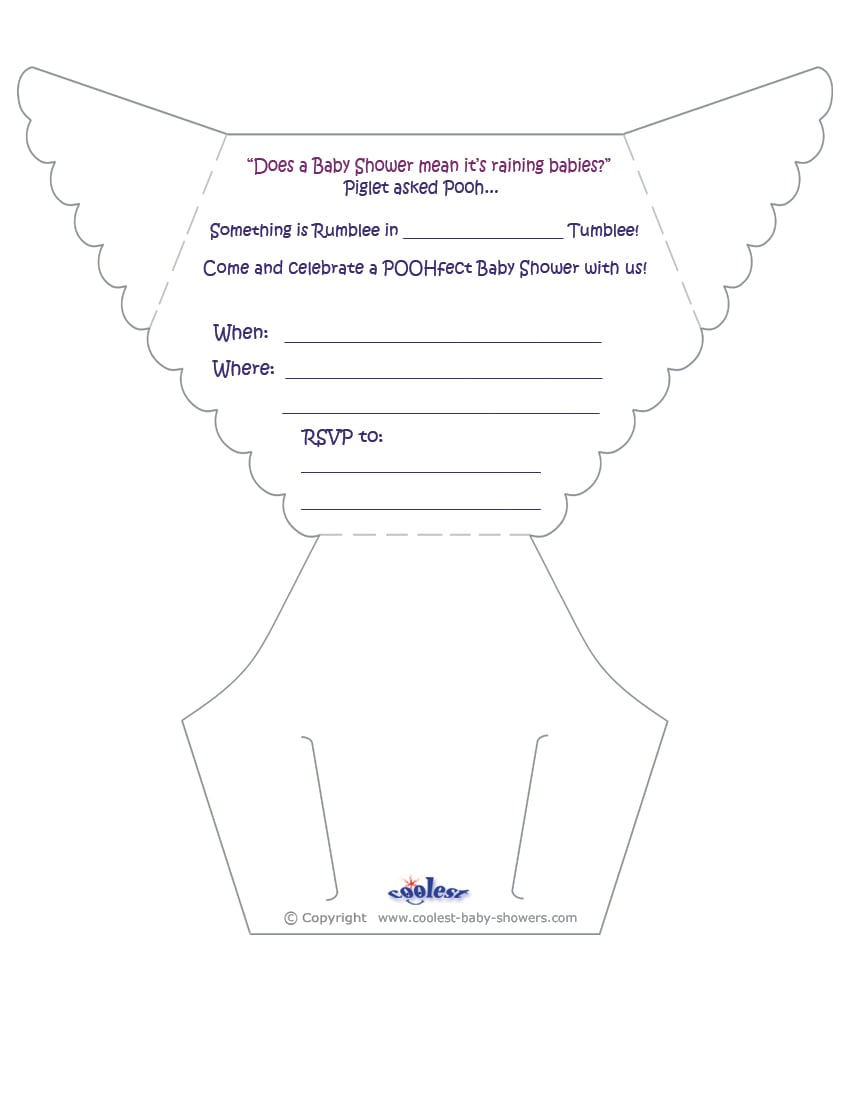 Free Diaper Party Invitation Templates