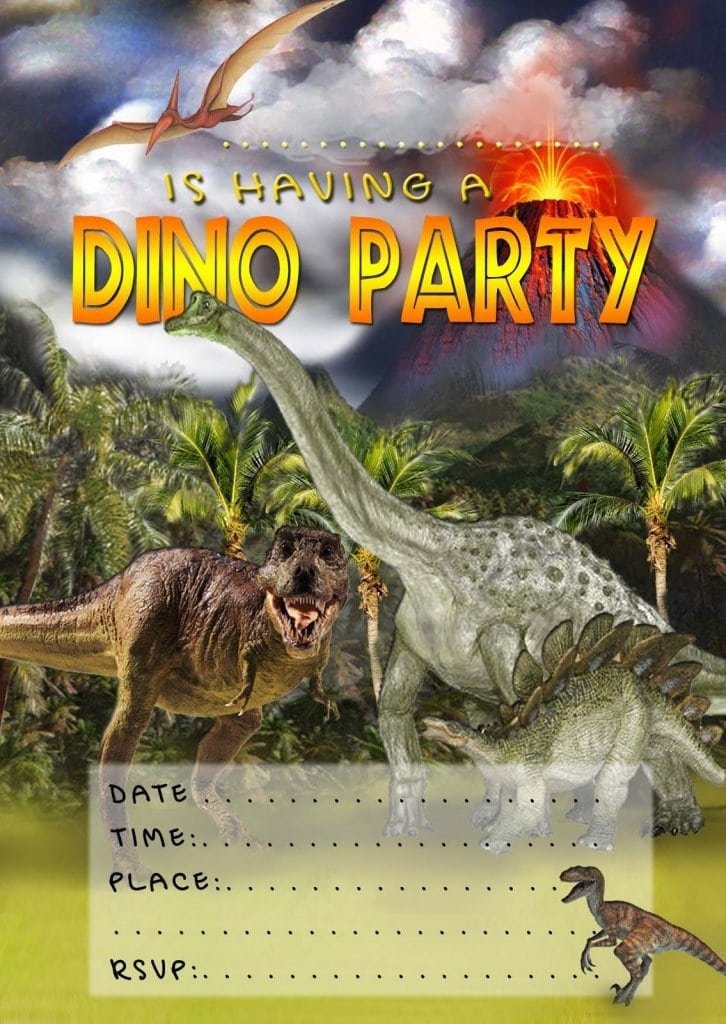 Free Dinosaur Invitation Design