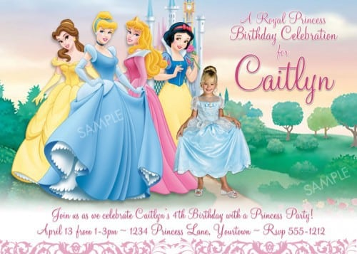 Free Disney Princess Birthday Invitations 5