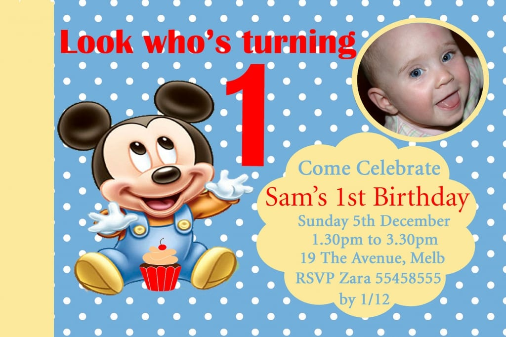 Free Download Of Baby Mickey Mouse Invitations