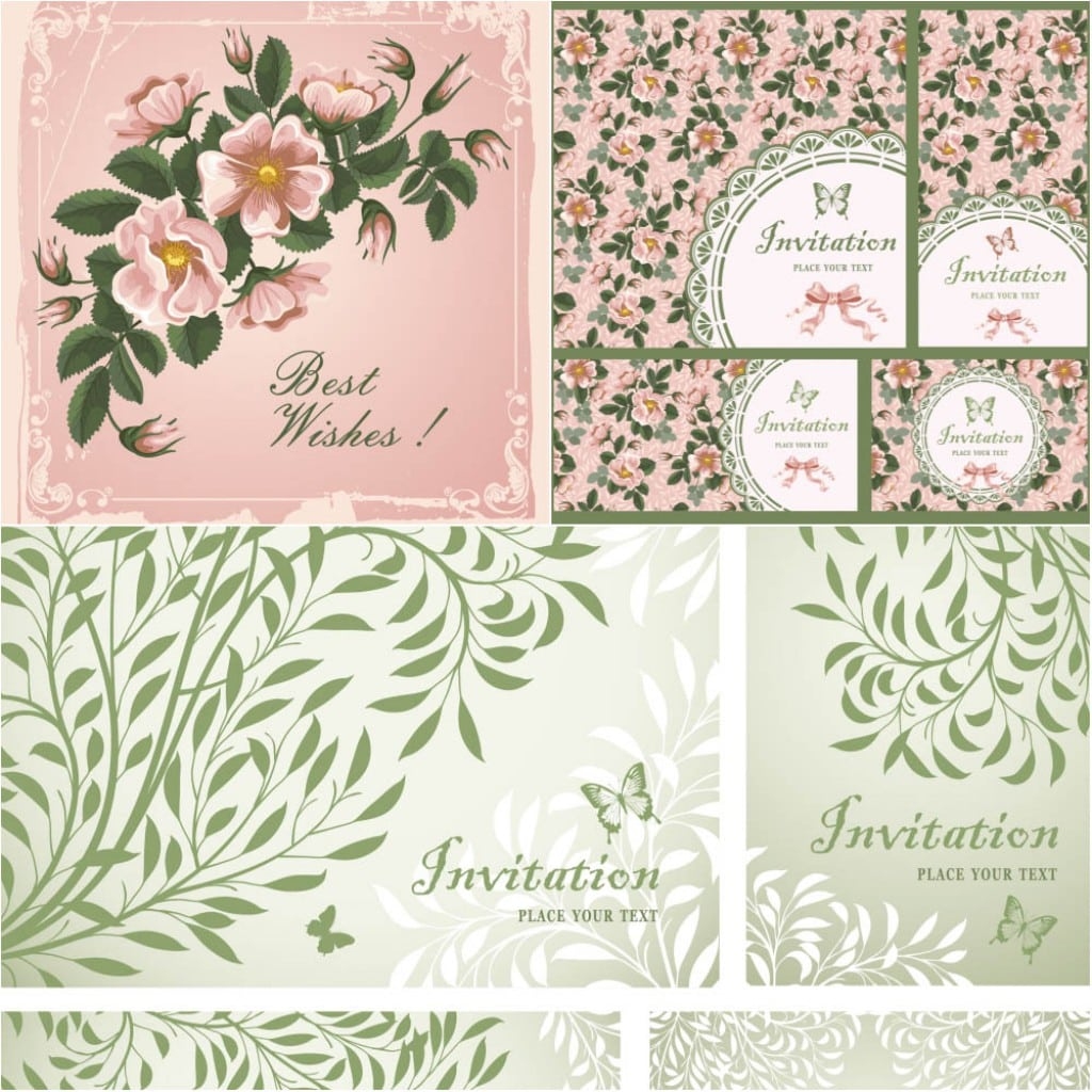 Free Download Vintage Wedding Invitation Templates 4