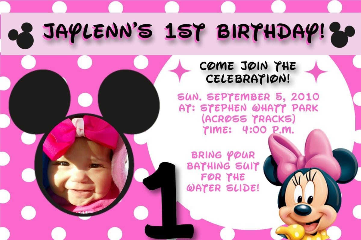 Free Downloadable Minnie Mouse Invitations 5