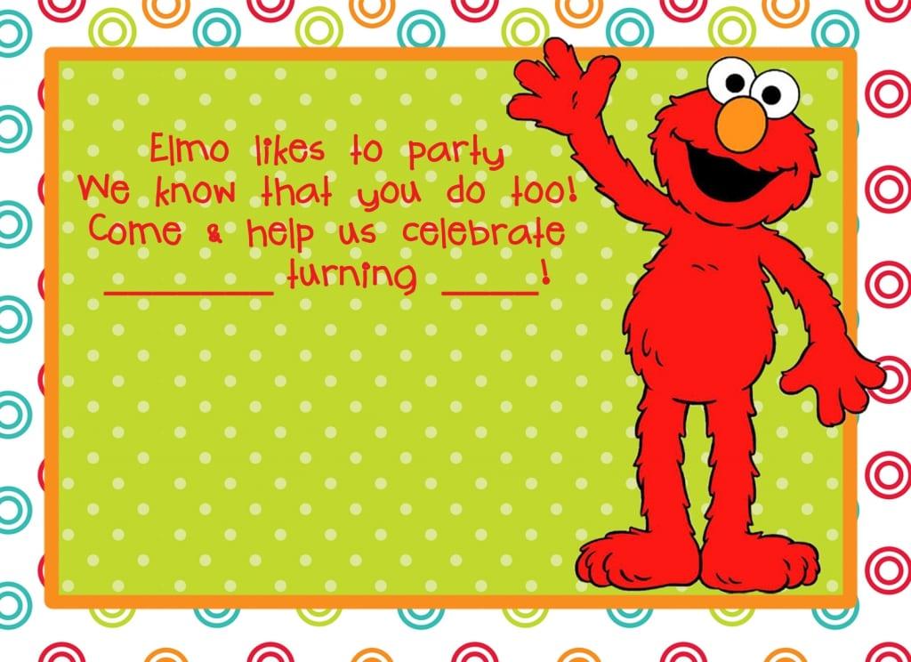 Free Elmo Party Invitation Template