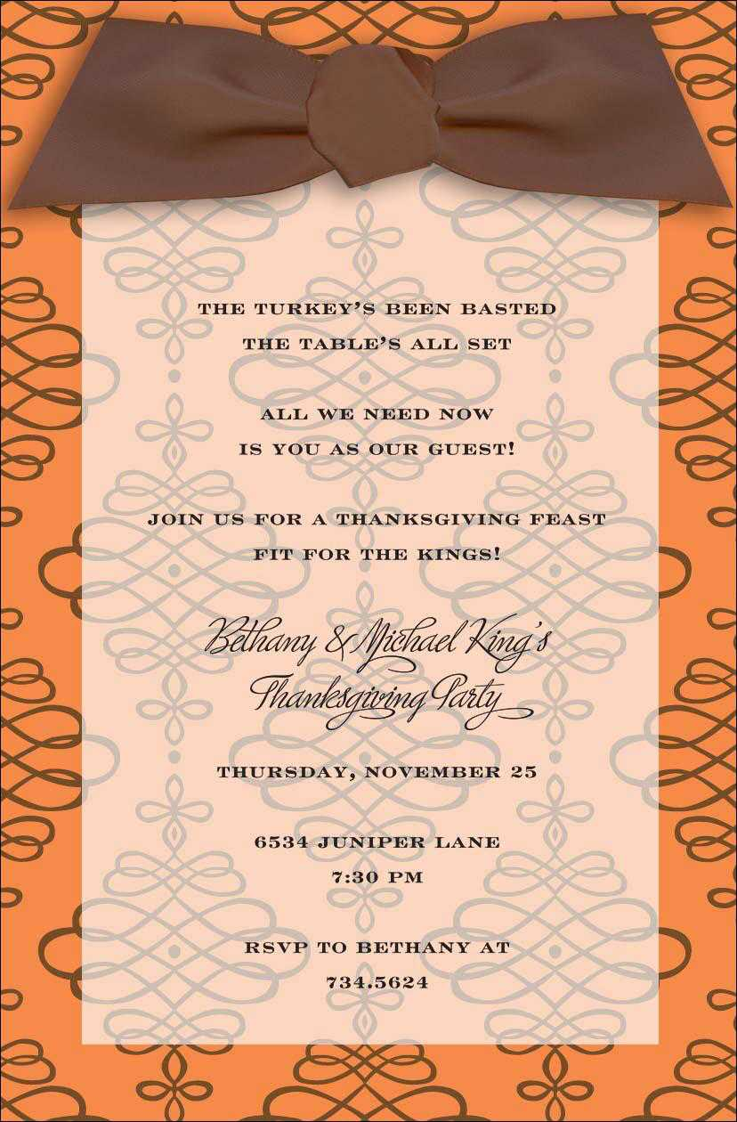 Free Email Thanksgiving Dinner Invitations