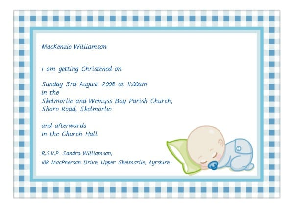 Free Girls Christening Printable Invitation Templates 2