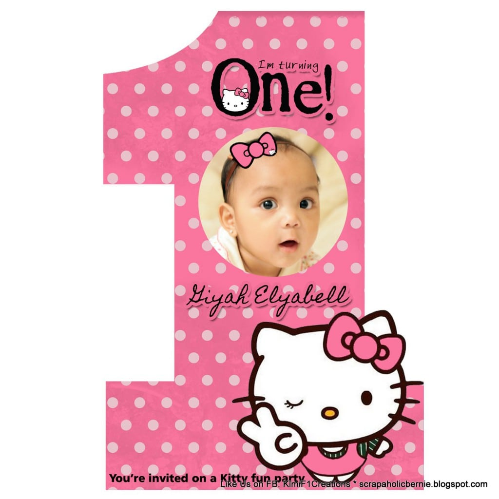 Free Hello Kitty Birthday Invitation Template 2