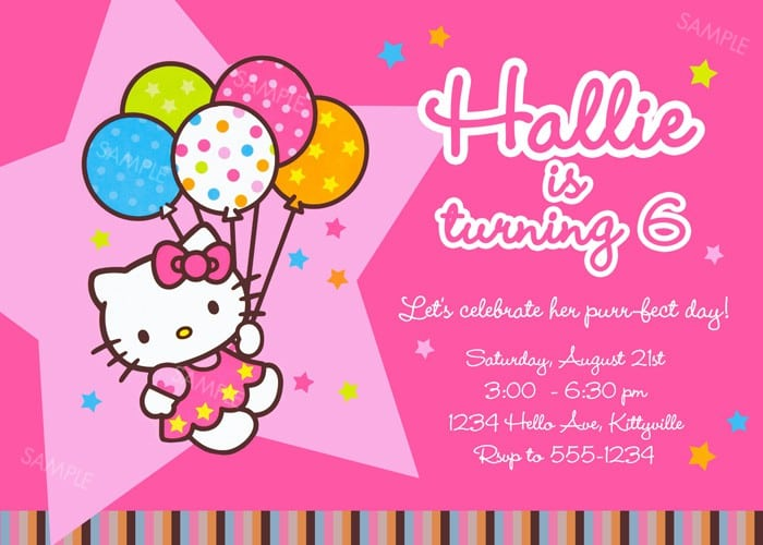 Free Hello Kitty Picture Invitations 3