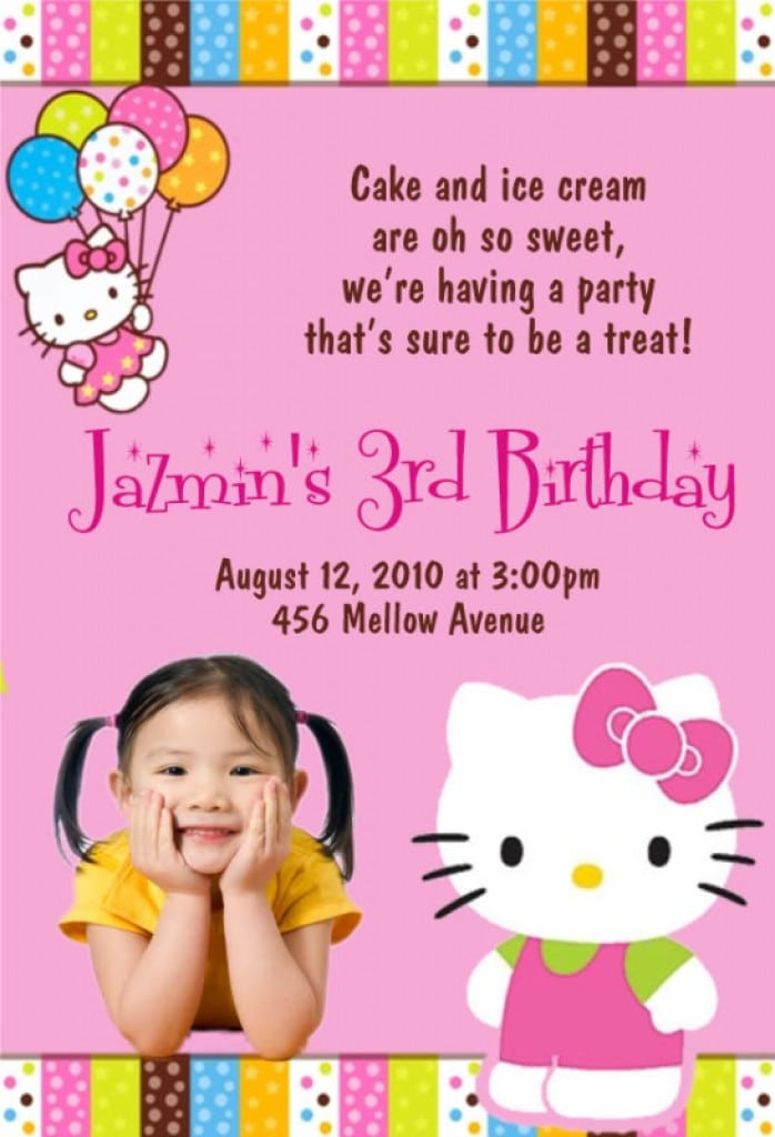 Free Hello Kitty Picture Invitations