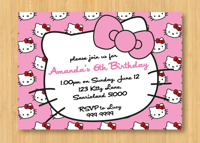 free hello kitty printable invitation leopard