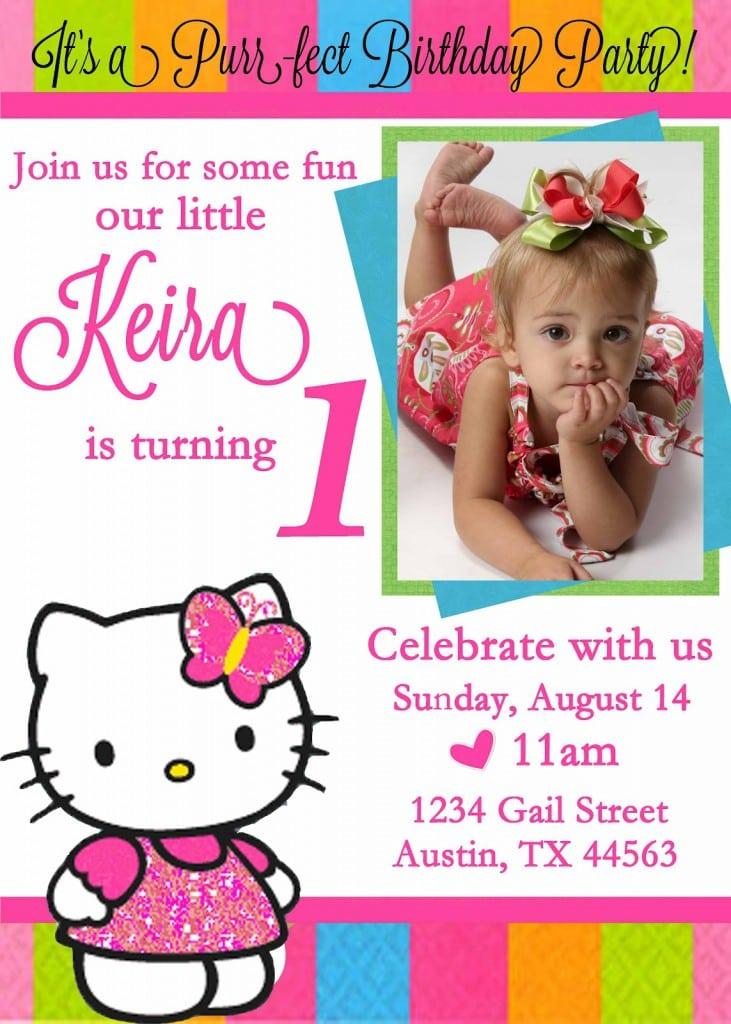 Free Hello Kitty Printable Invitations Template 3