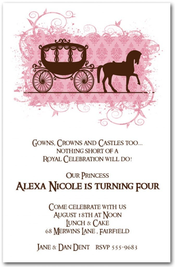 Free Horse Printable Birthday Invitations 3
