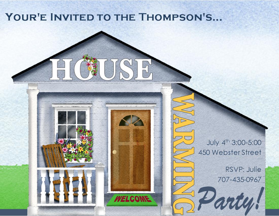Free Housewarming Invitation Card Template