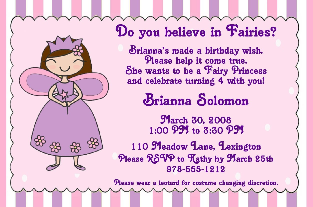Free Invitation Template The Little Mermaid