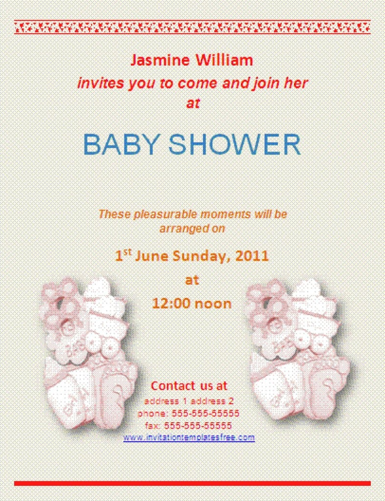 Free Invitation Templates Baby Girl Christening 4