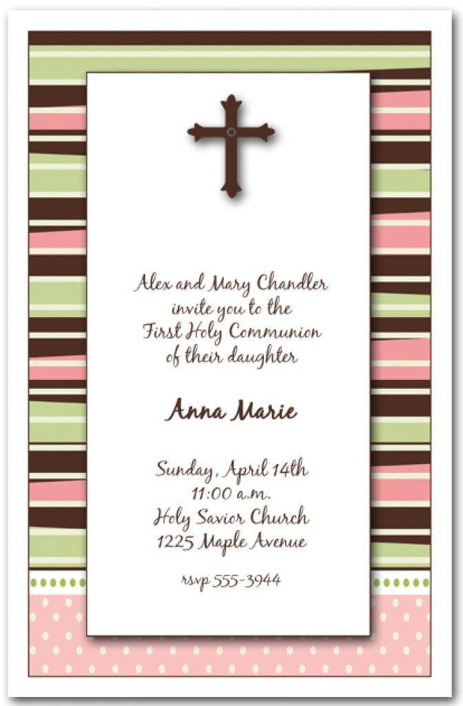 Free Invitation Templates Baby Girl Christening 5