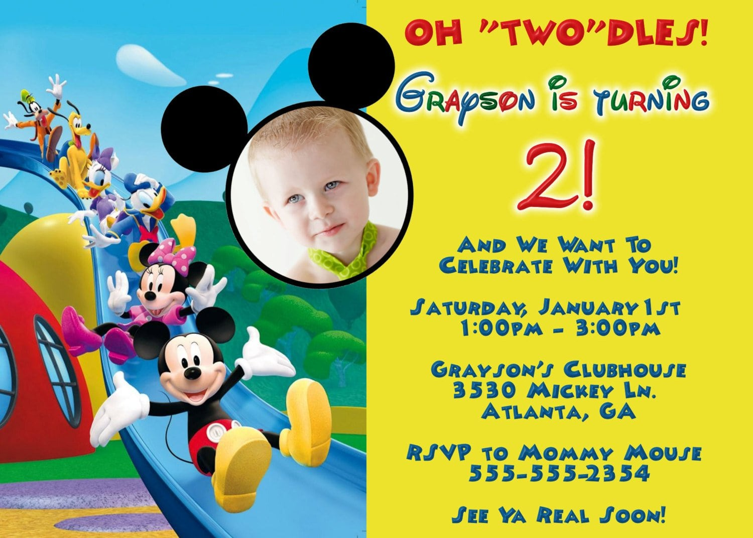Free Invitations Of Mickey Mouse Club House