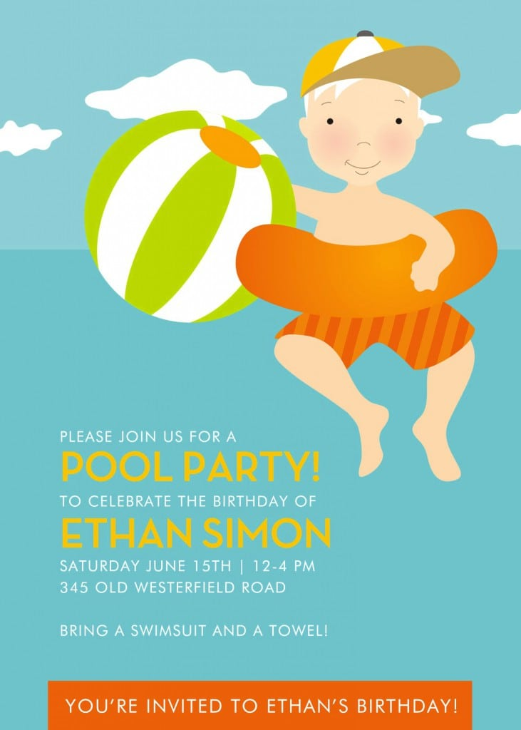 Free Kids Pool Party Invitations Printable 5