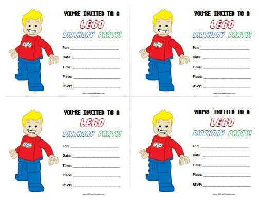 Free Lego Birthday Invitations Printable 4