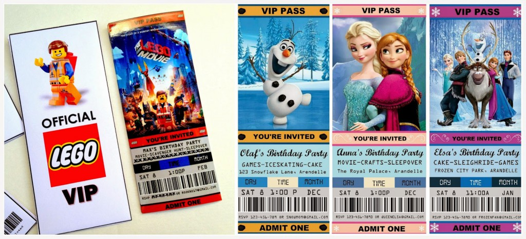 Movie Ticket Invitations Frozen Custom Invitations – Ticket Invitation Maker