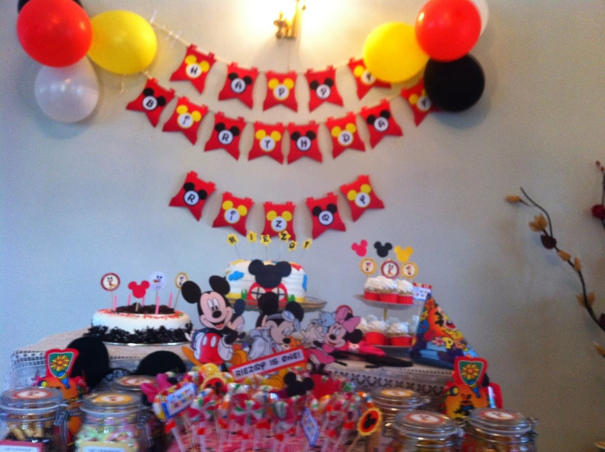 Free Mickey Mouse Birthday Banner Template