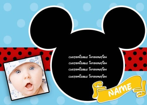 Free Mickey Mouse Clubhouse Invitation Template 2