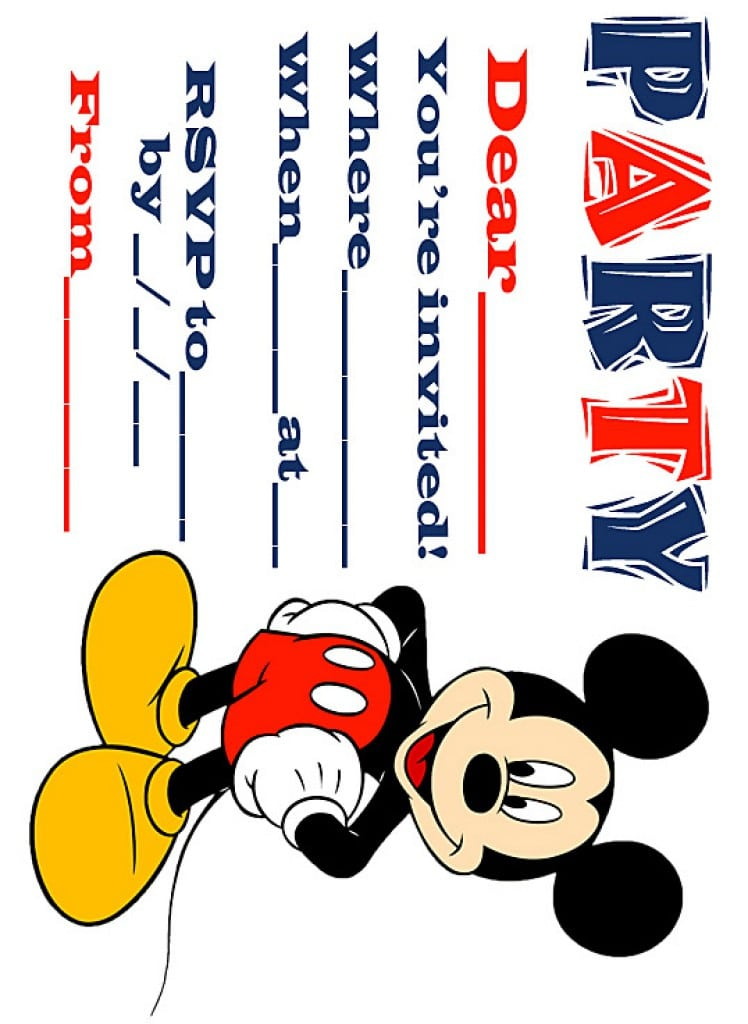 Free Mickey Mouse Clubhouse Invitation Template 3