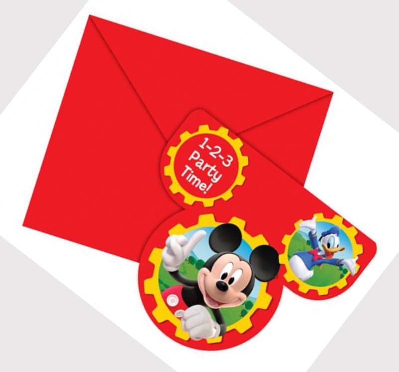Free Mickey Mouse Clubhouse Invitation Template 4
