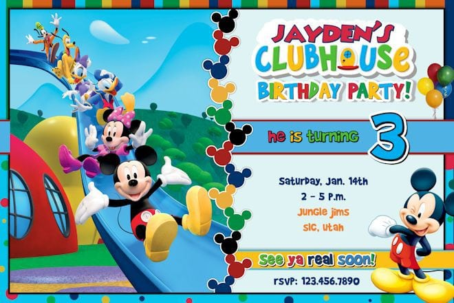 Free Mickey Mouse Clubhouse Invitation Template 5