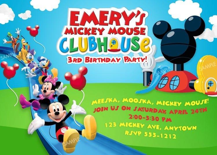 Free Mickey Mouse Invitation 2