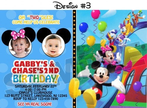 Free Mickey Mouse Party Invites 5