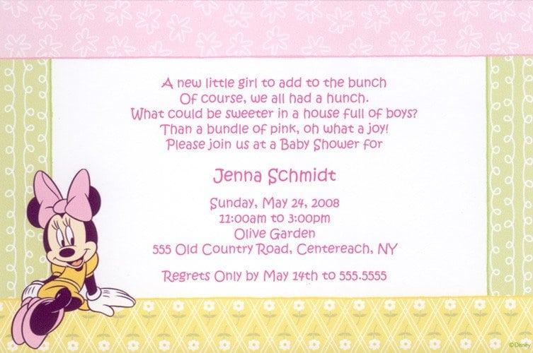 Free Minnie Mouse Birthday Invitation Template 2