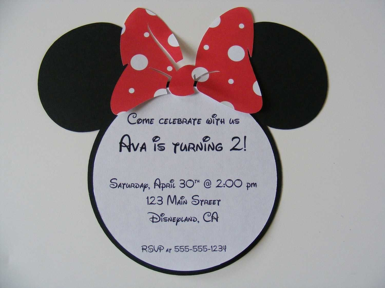 Free Minnie Mouse Birthday Invitation Template 3
