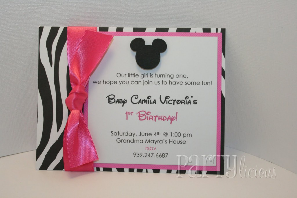Free Minnie Mouse Birthday Invitation Templates