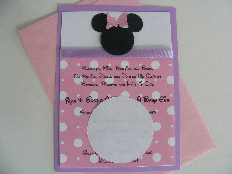 Free Minnie Mouse Birthday Invitation Templates 4