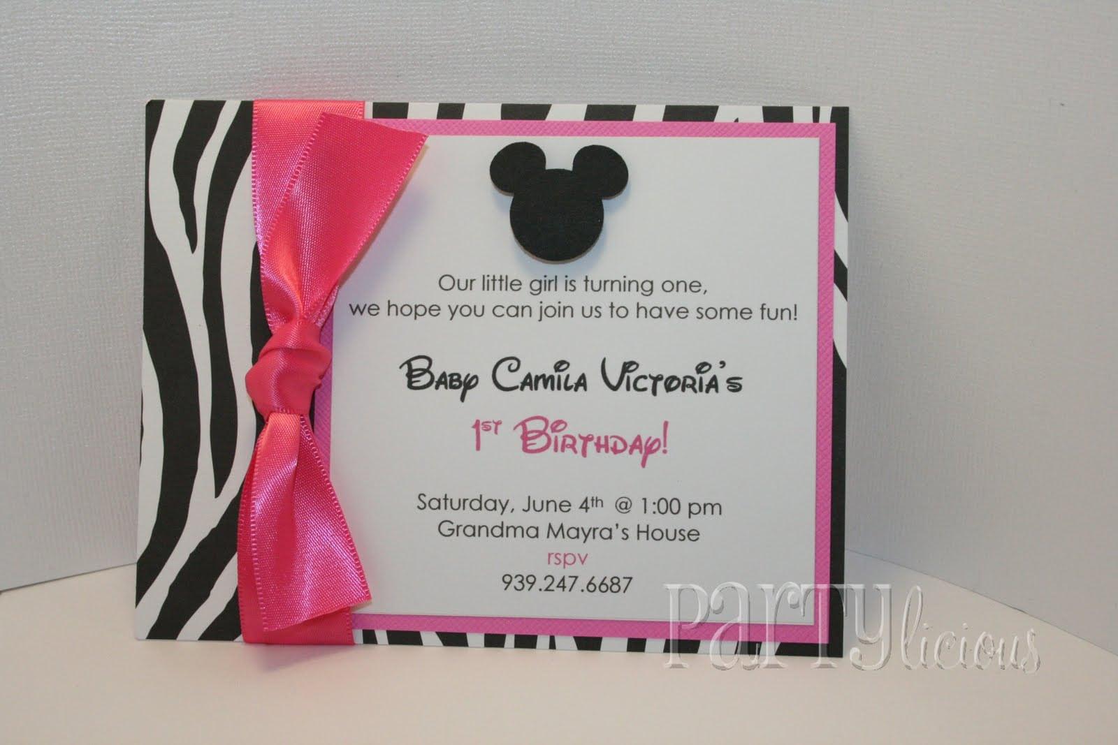 Free Minnie Mouse Birthday Invitation Templates