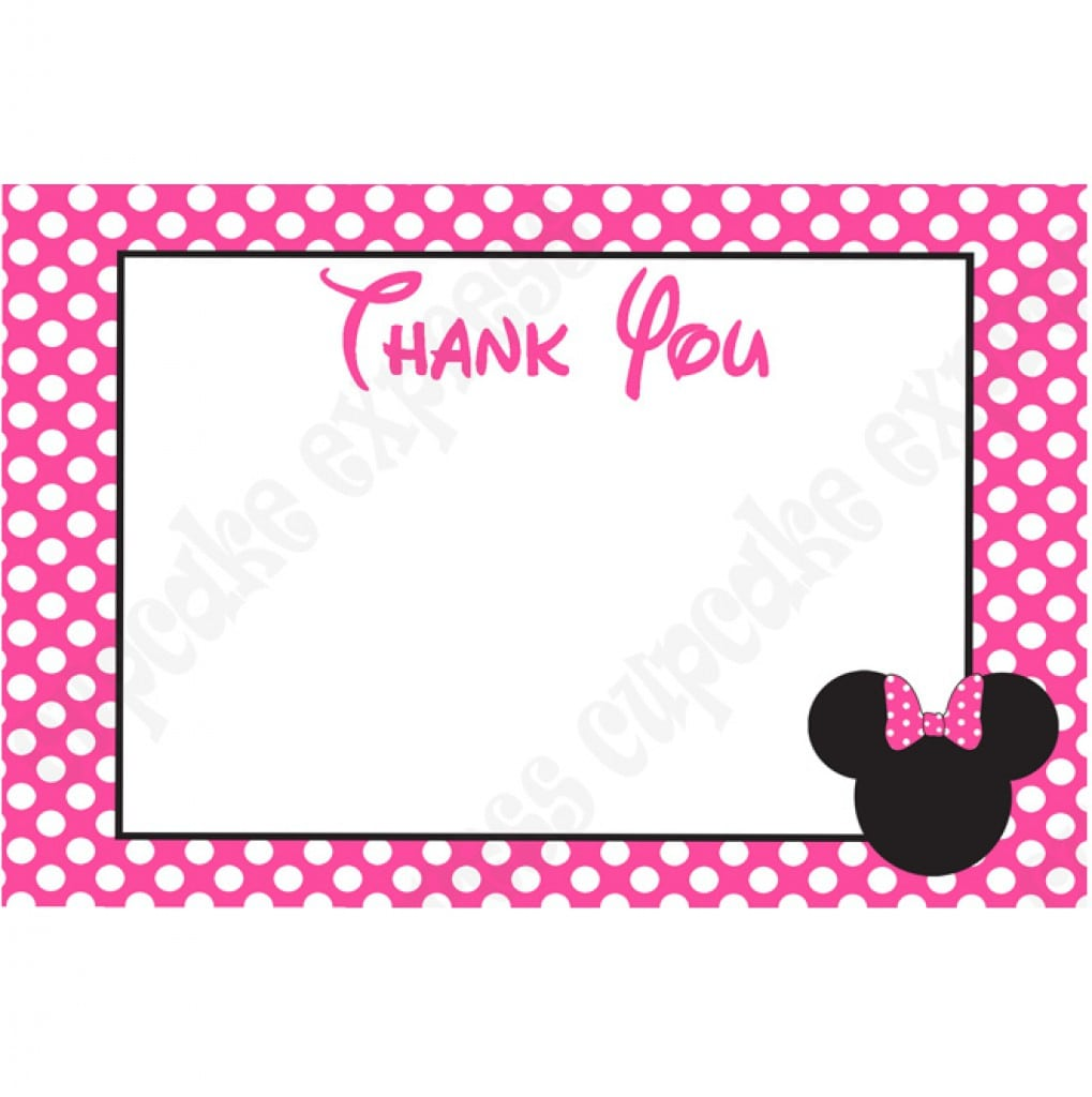 Free Minnie Mouse Invite Template 2
